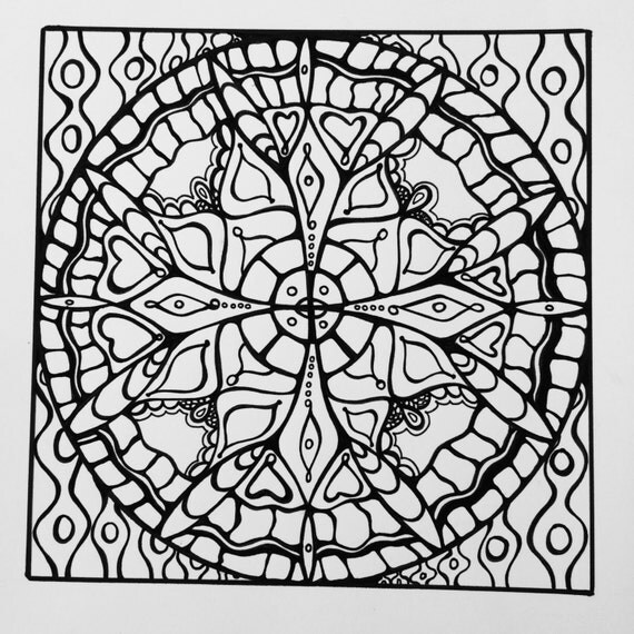 square mandala coloring pages - photo#8