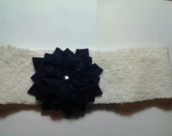 Blue Flower with Sparkle Center
