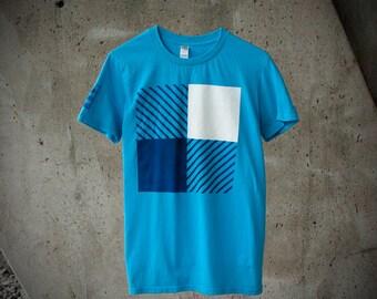 T-shirt Bûcheron Carreaux Moderne Chemise Design Homme Moustache Moutarde