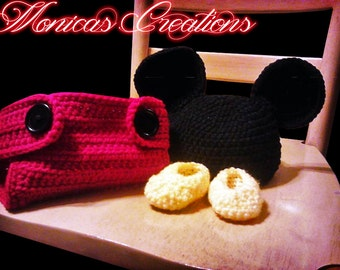 Handmade Crcohet Mickey Mouse Photo Prop