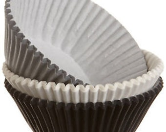 White/Black/Silver Standard Baking Cups by Wilton - 75 Count