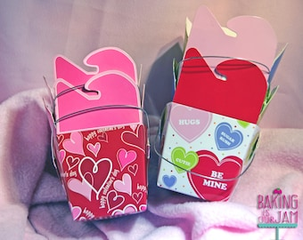 Set of 2 Valentine's Day Heart Chinese Take-Out Containers
