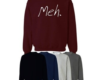 Meh Sweater Jumper Cute Fun Mens Womens Ships Worldwide S-XXL