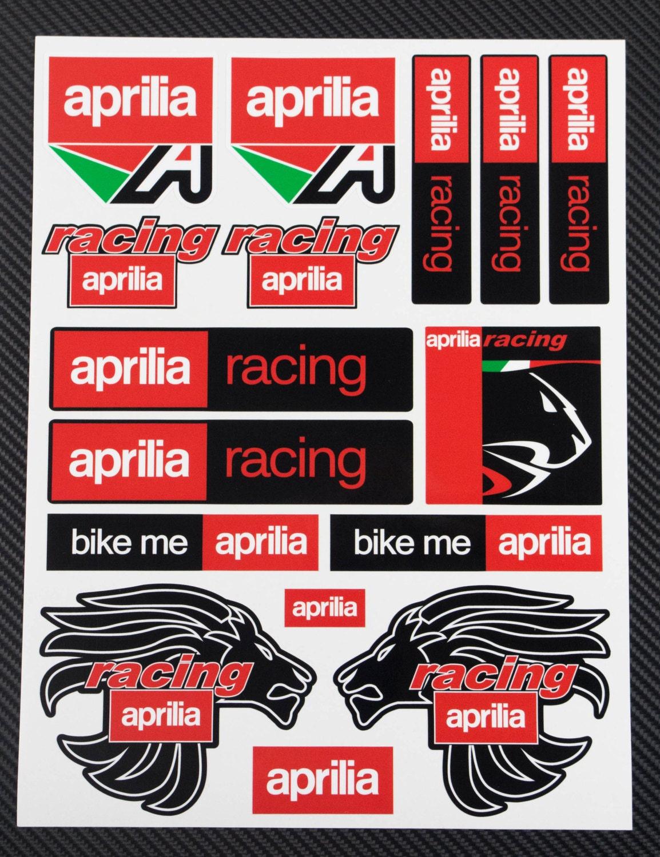 Bike stickers design discover - Aprilia Racing Decal Sheet Motorbike Stickers Set Racing 24x32 Cm Rsv Tuono Rs Bike Me Rsv R 1000 Factory