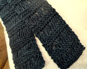 Drop Stitch Knit Scarf