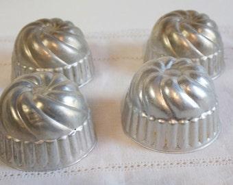 Vintage Jello Tin Molds Lot of four