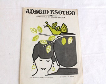 Vintage 1969 Adagio Esotico by William Gillock Sheet Music