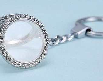 Floating Charm Keychain Locket