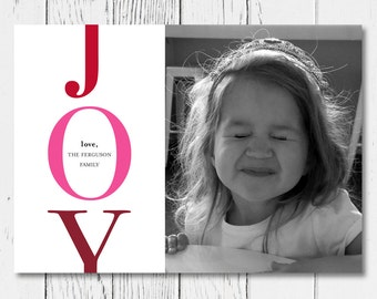 JOY Printable Holiday Card