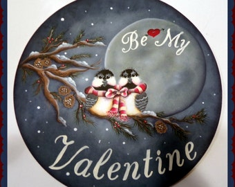 Chickadee Valentine Painting epacket