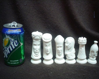 Ceramic Bisque 32 Piece SMALL Duncan Chess Set - Ready-to-Paint - E228
