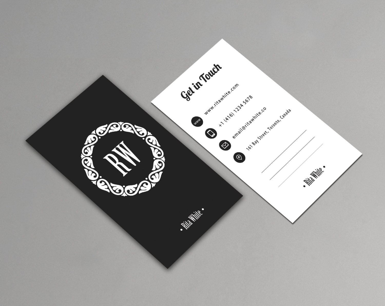 vertical business card template printable minimalist