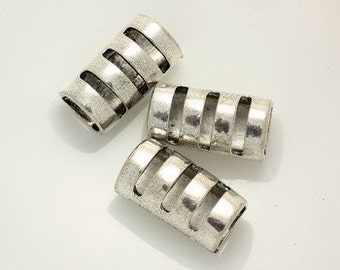 3pcs--Sliders for Licorice Leather, Hole: 7x10mm (B9-5)