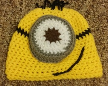 3D Despicable Me hat, one eyed minion