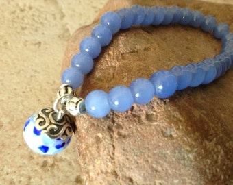 PRICE REDUCED! Light Sapphire Stretch Bracelet