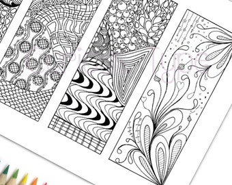 Bookmarks Zentangle Inspired Zendoodle Coloring Page