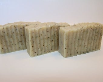 3 bars of Peppermint Tea Soap: All Natural Handmade Vegan Soap, Cold Process Method