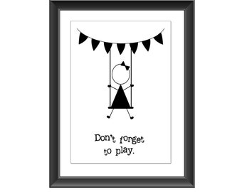 Inspirational Typography Print, Wall Decor, Quote Poster, Typography Print, Home Decor, Motivational Quote, Typography Wall Art, Playroom