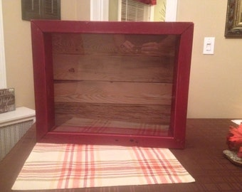 Rustic Reclaimed Wood Shadow Box