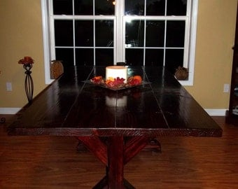 Solid Wood X-Style Farmhouse Dining Table