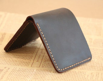 handstitch genuine leather wallet, mens leather wallet,credit card wallet,gift for man