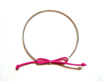 """Fuchsia"" Bangle Bracelet in sterling silver"
