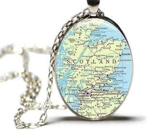 Scotland Map Pendant Map Necklace Map Scotland Jewelry