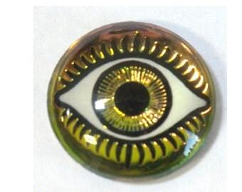 18MM Mysterious Eye Fuchsia/Lime Cabochon