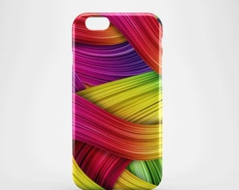 Rainbow Fibres Phone case,  iPhone X Case, iPhone 8 case,  iPhone 6s,  iPhone 7 Plus, IPhone SE, Galaxy S8 case, Phone cover, SS128a