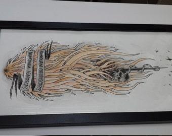 Burning Witch - original illustration