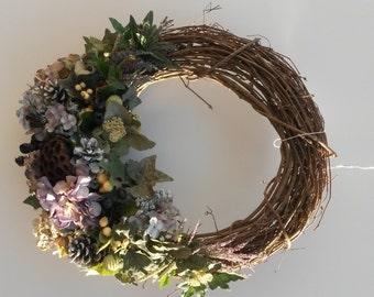 Classic Hydrangea Seed Pod Wreath is Stunning