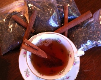 Green Loose Leaf Tea With Ginger And Cinnamon