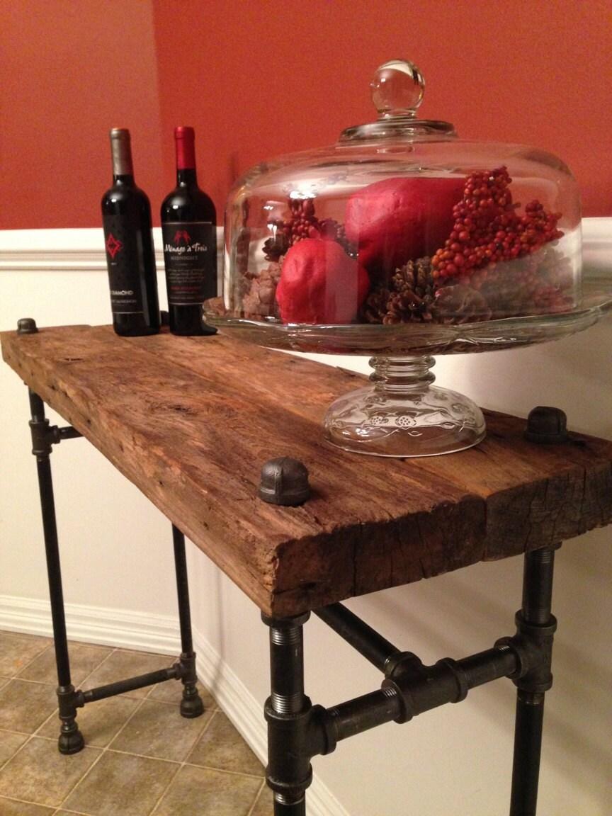 Reclaimed Barn Wood XL Sofa Table