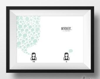 Female Introvert 8x10 Print