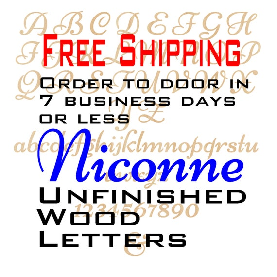Unfinished Wood Letters Numbers, Free Shipping, Niconne, Wood Craft, laser cut wood wood, &, birch, wooden, wall, DIY