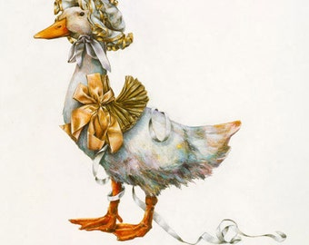 Birthday Cards, Greeting Cards, Blank Cards, Easter Cards, Duck, Springtime, Party Card,