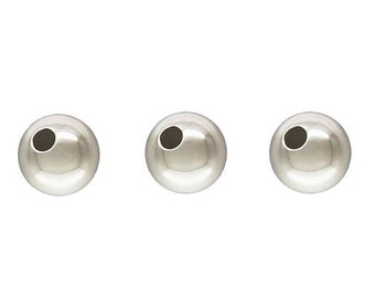 3mm Sterling Silver Round Seamless Beads  - 100 pcs.
