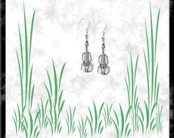 Fiddle Sterling Silver Earrings - Free Shipping
