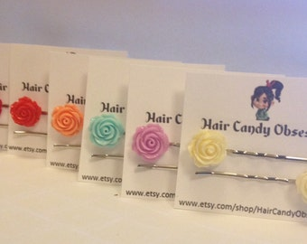 Flower Bobby Pins set of 2 Hair accessories