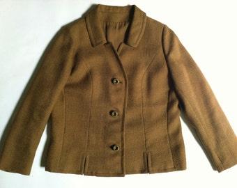 Vintage Women's Short Suit Jacket -  Blazer Jacket - Women's Button Down Jacket - Cropped Jacket - Harrods California