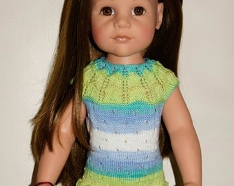 hand knitted doll dress