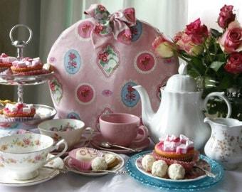 Romantic tea cosy, tea cozy, teapot cosy, teapot cozy, theemuts