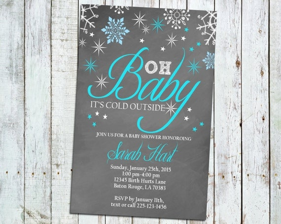 5x7 it 39 s cold outside baby shower