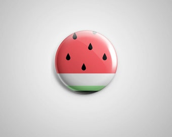 "PCS-PIN-028 - Watermelon  Pinback button - 1.75""-Perfcase"