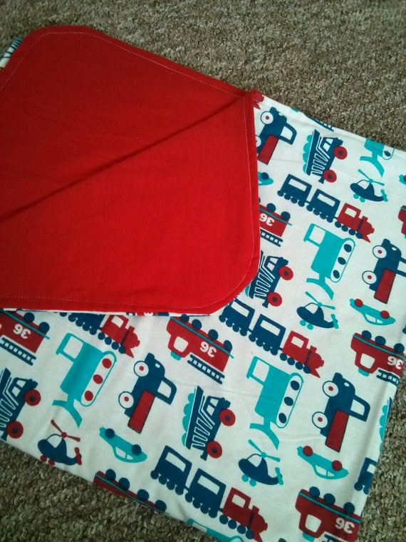Cars and trucks baby receiving blanket