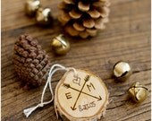 Birch Custom Christmas Ornament or Gift Tag - One Woodburned Custom Ornament - StoneandWillow