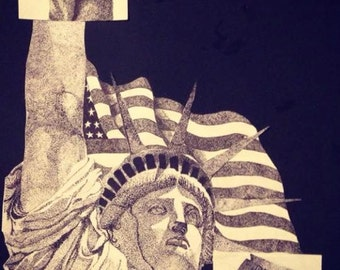 Statue of Liberty Drawing/The Problem With America