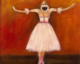 BALLERINA   beautiful original oil painting very elegant and full of grace made of high quality material  NOW *******: Free Shipping********