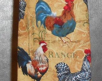 Plastic Grocery Bag Holder #283 Roosters Plastic Bag Holder