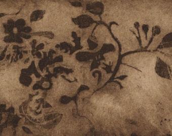 Old floral wallpaper